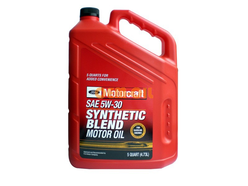 Ford motorcraft sae 5w 30 premium synthetic for Motorcraft synthetic blend motor oil