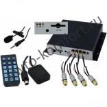 Видеорегистратор автомобильный 4-х канальный с модулем GPS