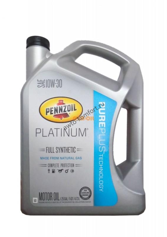 Pennzoil platinum sae 10w 30 full synthetic for Pure synthetic motor oil