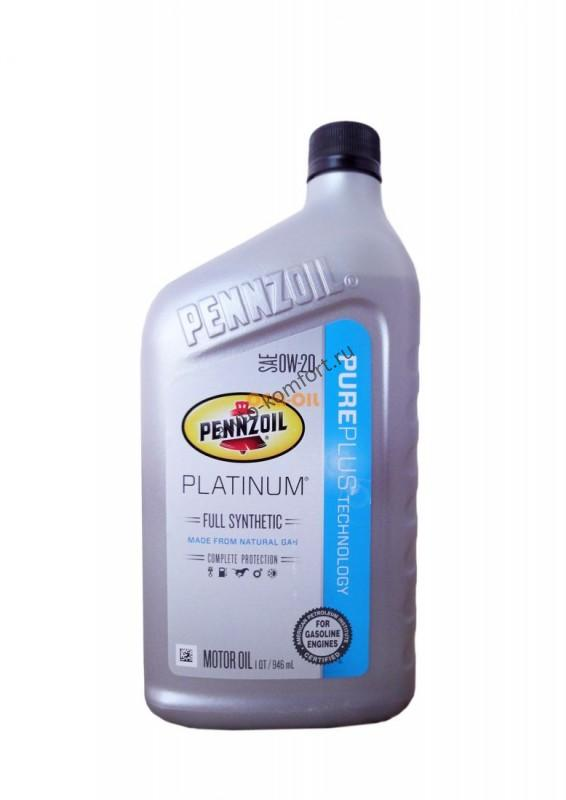 Pennzoil Platinum Full Synthetic Motor Oil Sae 0w 20 Pure Plus Technology 0